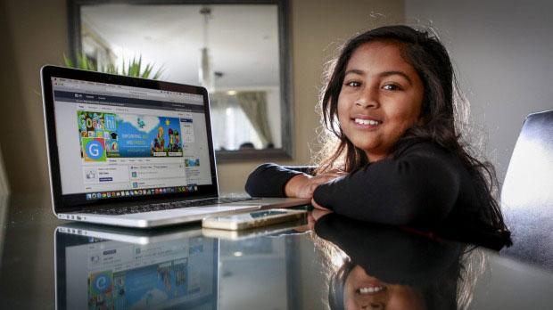 دختر9ساله هندی توسعه دهنده اپلیکیشن